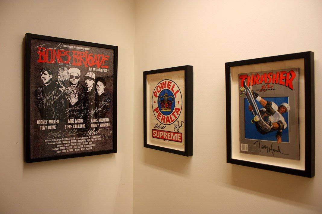 Framed Bones Brigade Memorabilia