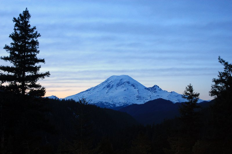Sundown Mt. Rainier View
